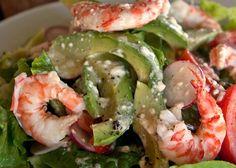 Σαλάτα με αβοκάντο και γαρίδες