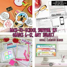 Back-to-School Survival Kit for the First Days, Middle/High, BUNDLE  Survive - and thrive - in the first days of school with this bundle designed for secondary classrooms. Great for any subject of middle-high school level. This is the most practical and unique classroom start up pack because it is a one-stop shop for new teachers, student-teachers, or even veteran teachers who are looking for a new twist on old ideas.