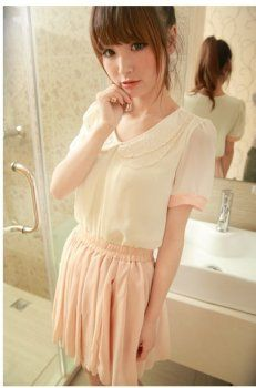 latest korean blouses gallery, discover thousands of the latest high street fashion women's latest . Street Fashion, Women's Fashion, Fashion Outfits, Korean Blouse, Korean Fashion Online, Street Style Women, Blouses, Asian, Gallery