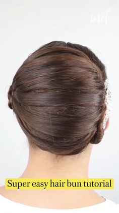 Combattre La Cellulite, Competition Hair, Hairdo For Long Hair, Easy Bun Hairstyles, Hair Upstyles, Hair Videos, Curly Hair Styles, Hair Care, Hair Makeup