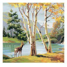 This Deer by Lake illustration is a unique illustration by CSA Images. View our online stock illustration collection! Framed Art, Framed Prints, Poster Prints, Canvas Prints, Art Encadrée, Lake Art, Deer Art, Guache, Art Et Illustration