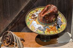 Custom Hand Painted Cowboy Hat Horse Art Hat Cave by LaurieJordan, $350.00