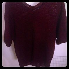 Gap Sweater Knitted burgundy/maroon women's sweater. In great condition.  Tell me what bundle of items you want and let's make a deal! GAP Sweaters