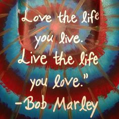Bob Marley quote - painted cooler