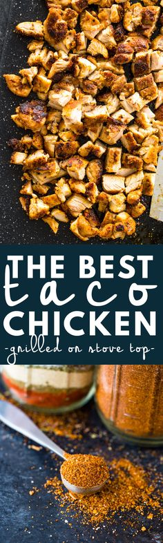 The Best Grilled Chicken For Tacos, Burritos, or Salads  SWANK NOTE:  Use skinless chicken breasts only.