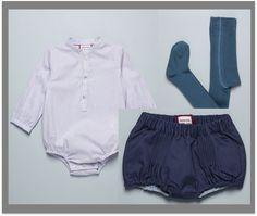 Camisa y cubrepañal azul Neckandneck