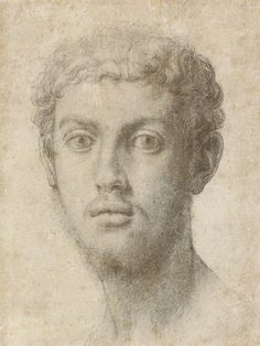 Head of a Man, about 1550–55  Agnolo Bronzino   The J. Paul Getty Museum - possibly Alessandro de' Medici - Duke of Florence - 1510-37 - called 'il Moro' the Moor. Illegitimate son of Lorenzo II de'Medici and a servant woman of African descent (it is thought) identified in documents as Simonetta da Collevecchio. He was murdered by his cousin.
