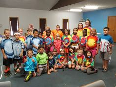 The campers at Radiant Kids Summer Camp looking fly in their new tie dye tees!  #tiedye #triedyes #tiedyed