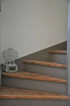 Colorful stairwell dreaming (and scheming) – Plaster & Disaster Stone Stairs, Concrete Stairs, Wood Stairs, Entryway Stairs, House Stairs, Basement Stairs, Stairs Colours, Modern Railing, Building Stairs