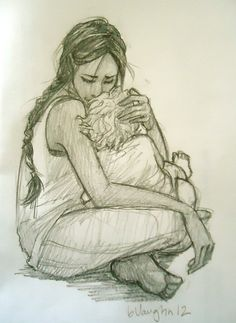 Awww, adorable! Katniss and her little boy...I love this (it's drawn by burdge bug)