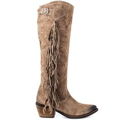 Cute cowboy style boots with fringe @Sarahi Hernandez  I think im in love