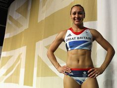 Jessica Ennis models the kit created for London 2012.