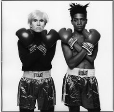 Michael Halsband: Andy Warhol and Jean-Michel Basquiat with Boxing Gloves, 1985