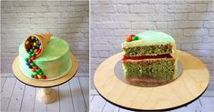 """Pistachio-strawberry cake """"Delight"""" Products (for a cake weighing about kg without taking into account the decor): Pistachio sponge cake: 4 eggs (divided Sponge Cake, Picture Design, Pistachio, Avocado Toast, Holiday Crafts, Beautiful Pictures, Good Food, Strawberry, Cooking"""