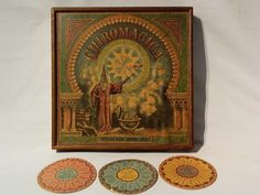 ANTIQUE 1889 CHIROMAGICA MCLOUGHLIN BROS. N.Y. BOARD GAME GREAT ANTIQUE WOODEN #McLoughlinBrosNY