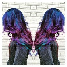 20 Galaxy Hair Color Ideas,the Breathtaking Beauty ❤ liked on Polyvore featuring hair and galaxy