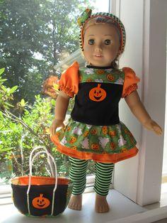 Ghosts 'n Pumpkins Dress by dollCLOTHEStique on Etsy, $18.00