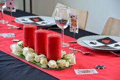 Table setting, Casino Royale-party. Konfirmasjon