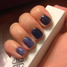 Koi Pond wrap and Beta gel #jamberry #nails #nailart #manicure #combination #easy #blue #navy