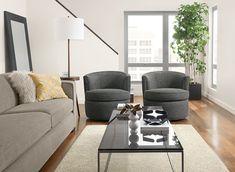 Otis Swivel Chair - - Modern Living Room Furniture - Room & Board Furniture, Living Room Furniture, Small Living Room, Modern Living Room, Home Decor, Couch Furniture, Ottoman In Living Room, Modern Furniture Living Room, Coffee Table