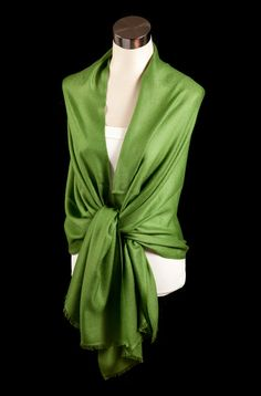 Sultry and stylish emerald green. www.karmacashmere.com