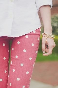 You can never go wrong with polka dot pants.