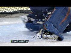 In this ProSmart tutorial, Eli Wilson and Kristen Olychuck demonstrate how to use the inside edges of both skates to perform quick, controlled, and effective. Hockey Drills, Hockey Goalie, Hockey Players, Ice Hockey, Hockey Coach, Goalie Mask, Hockey Stuff, Goalkeeper, Exercises