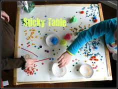 Stick Art Table (would be good with preschool grandkids)