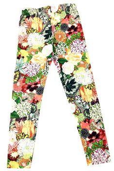 27d7bcd1d Eumerce Baby Kid Children's Toddler Pants Floral Printed Girl Cotton  Leggings