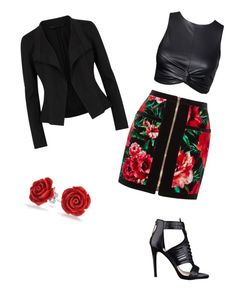 """Untitled #1"" by keithn-suzanna-fuller on Polyvore featuring Balmain, GUESS, Bling Jewelry and Donna Karan"