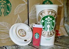 Starbucks Cup & Gift Card Set, Personalized Cup cello wrapped with gift card [gift ready, quality gift for anyone]