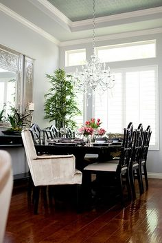Gorgeous formal dining room Would be great for a smaller plan