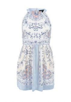 Летнее платье от BCBGMAXAZRIA с цветочным узором. Модель выполнена из тонкого струящегося материала. Особенности: круглый вырез, застегивается на молнию и пуговицу на спине. http://j.mp/1pNxQU2