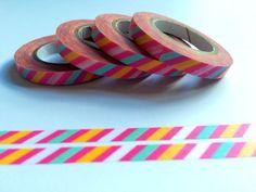 Bright Skinny Striped Washi Tape