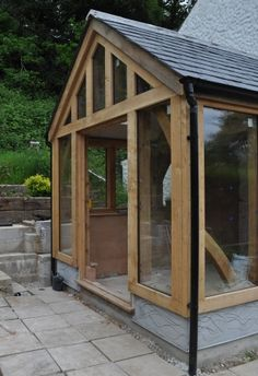 Conservatory: air dried oak Design: David Walsh    Build: David Walsh