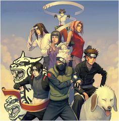 Tenten, Neji, Hinata, Sakura, Sai, Kakashi, & Kiba