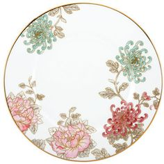 Marchesa Painted Camellia Dinner Plate floral