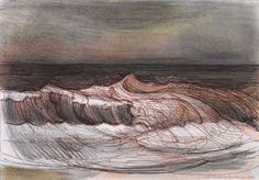 Sea waves and currents Art Assignments, Water Drawing, Sea Waves, Gcse Art, Community Art, Beautiful Paintings, Abstract Landscape, Art History, Illustration