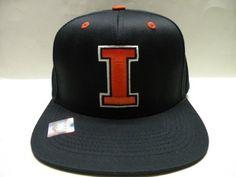 NCAA University of Illinois, Fighting Illini Retro Snapback Cap by Captivating HeadGear. $19.00
