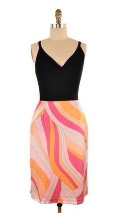 Un Deux Trios 123 Printed Knee Length Skirt Size 12 | ClosetDash #fashion #style #skirts