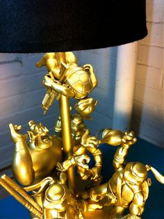 WISHFUL THEFT A Golden Toy Lamp Made From Action by SoundGraffiti, $136.00
