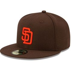 """7 & 3/8"""" San Diego Padres New Era Authentic Collection Turn Back the Clock 59FIFTY Fitted…"""