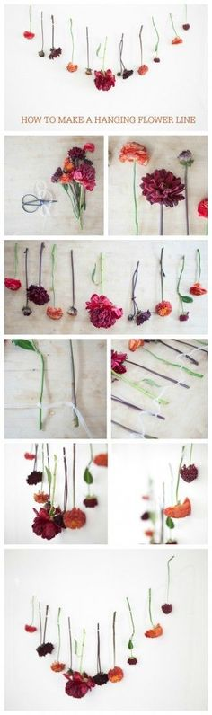 Hanging Floral Line Tutorial - Rustic Wedding Chic