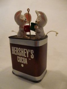 Hallmark 1993 Hershey's Cocoa Hot Chocolate Warmest Memories Christmas Ornament | eBay