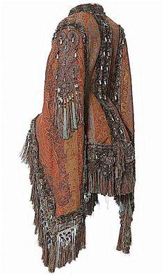 France, 1870-1880   Cachemire, frange de passementerie