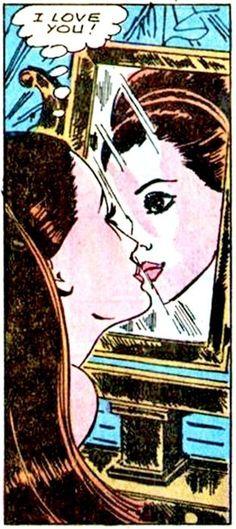 "Comic Girls Say... ""I Love You! "" #Vintage #Comic #PopArt"