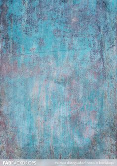 Oxidized Blue Grunge Abstract Backdrop Photo Drop concrete wall textured
