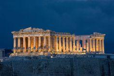 Parthenon-on-Acropolis-in-Athens-Greece
