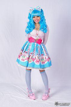 Rave Blouse, Bodylie Skirt, Gothic Lolita Wigs Wig, Sock Dreams Socks, Bodyline Shoes