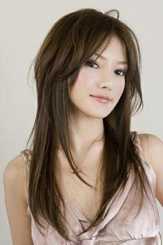 dégradé cheveux longs